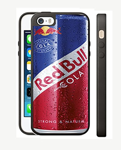 Case Cover Silicone Iphone 5 5s RB6 Protection Design Red Bull energy Drink