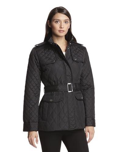 Anne Klein Women's Quilted Jacket with Belt