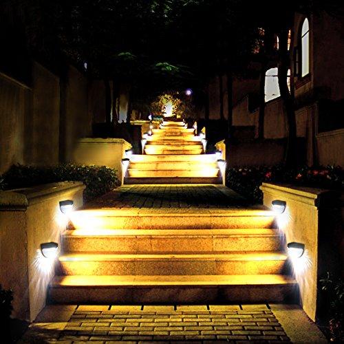 Litom Solar Lights Garden Lights Outdoor Fence Lights Semi-circle ...