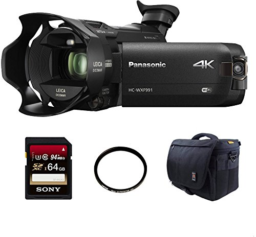 Panasonic-HC-WXF991K-4K-Ultra-HD-Camcorder-with-Twin-Camera-Sony-64GB-Memory-Card-49mm-UV-Filter-DSLR-Ape-Case