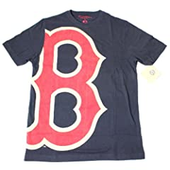 Boston Red Sox MLB Mens Overgrown Logo T-Shirt by Wright & Ditson by Wright & Ditson