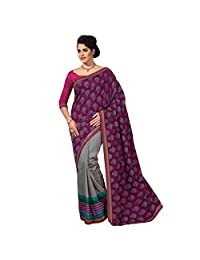 Ashika Designer Multi Color Raw Silk Material Saree, Sari(246)