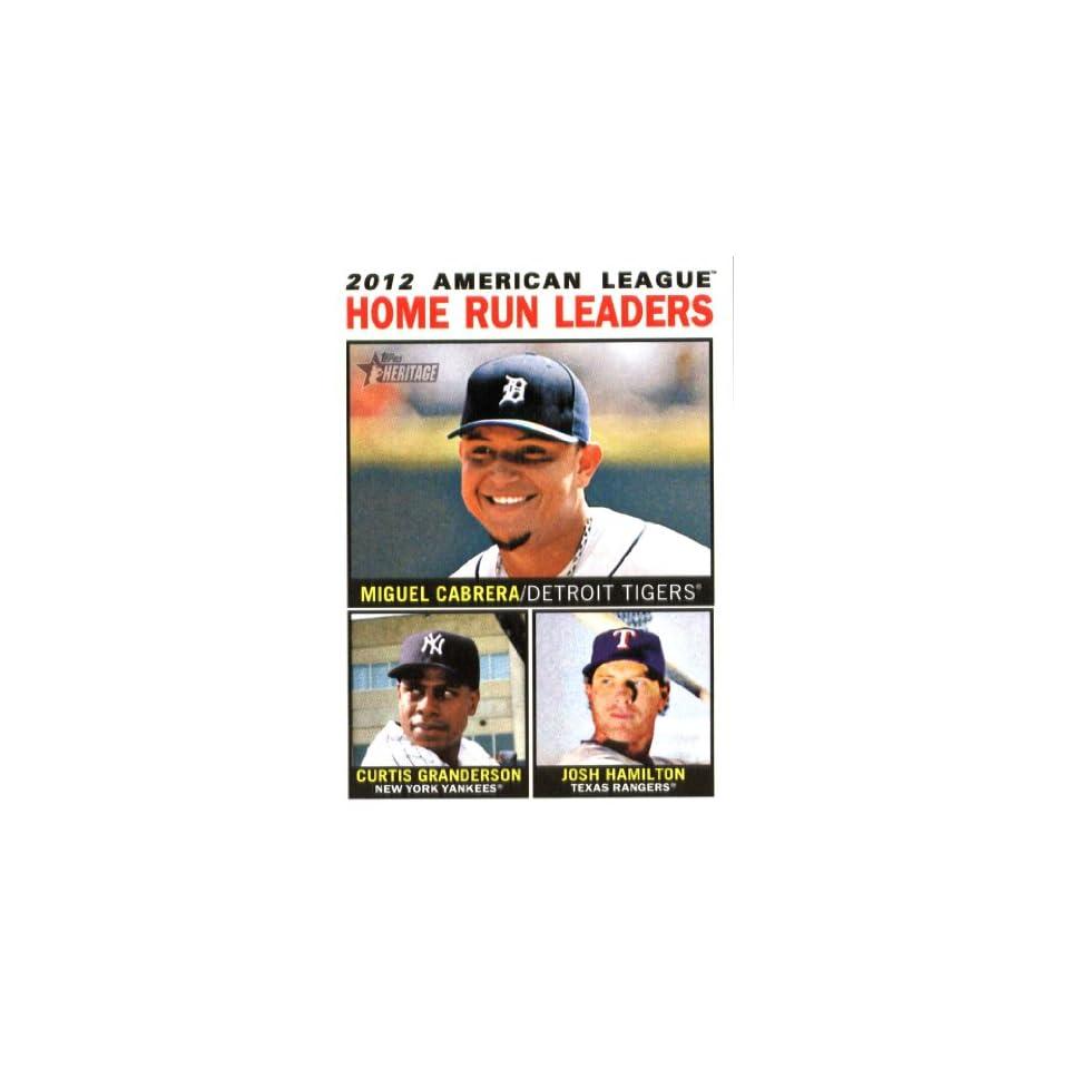 2013 Topps Heritage Baseball Card IN SCREWDOWN CASE #10 Miguel Cabrera / Curtis Granderson / Josh Hamilton ENCASED