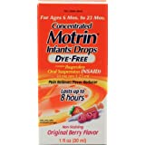 Motrin Pain Reliever/Fever Reducer Infants' Drops Concentrated Dye-Free Berry Flavor 1 fl oz