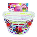 Bike Basket - Kids Bicycle Basket with Three Motion Activated Blinking Flowers
