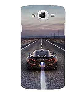 Printvisa Speeding Sports Car Back Case Cover for Samsung Galaxy Mega 5.8 i9150::Samsung Galaxy Mega 5.8 i9152