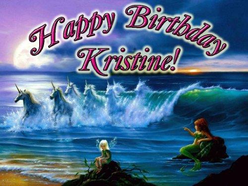 Unicorns, Mermaids And Fairies 1/4 Sheet Edible Photo Birthday Cake Topper. ~ Personalized!