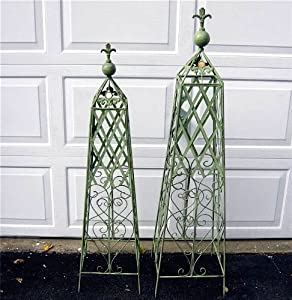 Obelisks Trellis Set Of 2 Wrought Iron Mint