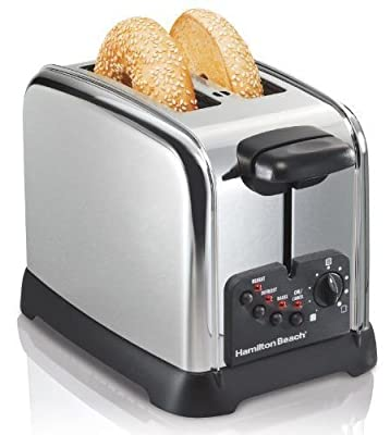 Hamilton Beach Cool Wall 2-Slice Toaster, Chrome by Hamilton Beach Brands, Inc.
