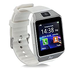 Wearable Smart Watch Phone DZ09 1.56 inch Touch Screen Bluetooth 3.0 Sync Call/SMS/Phonebook Sleep Tracker Sports for iOS/Android Smartphone - White