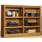 Concepts in Wood Double-wide 6-shelf Bookcase, MED OAK