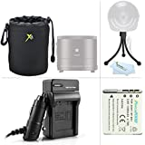 Must Have Accessories Kit For Sony Cyber-shot DSC-QX10, DSC-QX100, QX100/B DSC-QX10/W DSC-QX10/B, QX30 Smartphone Attachable Lens-style Camera Includes Replacement NP-BN1 Battery + Charger + Lens Case