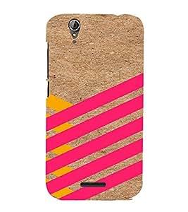 PrintVisa Yellow And Pink Stripes 3D Hard Polycarbonate Designer Back Case Cover for Acer Liquid Jade Z630
