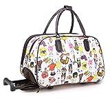 Big Handbag In Flight Funky Cat Design Kitten Holiday Travel Holdall...