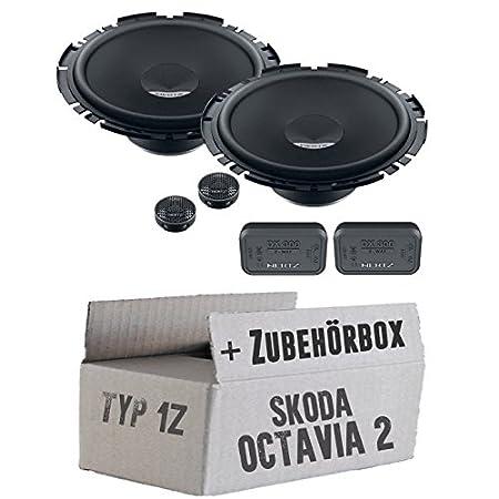 Skoda octavia 1Z arrière - 2 hertz dieci dSK 170.3 16 cm-kit 2 voies