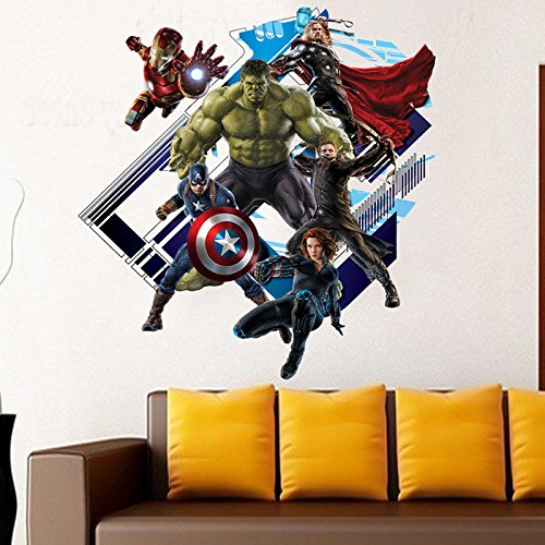 [Hiclass 3D Avenger3 Wall Decals Vinyl Stickers Art Home/Room Decor 24