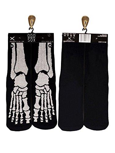 Odd Sox Glow-in-the-Dark Skeleton Sox, Sizes 6-13