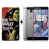Bob Marley Oneplus 3 / One Plus 3 / Oneplus 3T Back Cover Combo Offer Shopping Monk Premium Quality 3D Printed...