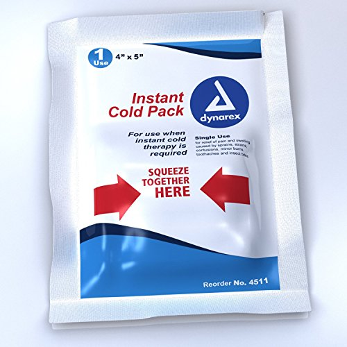 Dynarex Instant Cold Pack, 4 Inches x 5 Inches, 24-Count – Pack of 2
