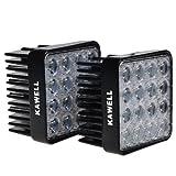 "Kawell® 2 Pack 48w 60 Degree LED Flood Lights 4.3"" Square Tractor Marine Off-road Lighting RV ATV"
