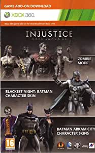 Injustice : Gods Among Us - Zombie Mode - Blackest Night -Arkham City Catwoman/Joker/Batman Skins DLC Code Card XBOX 360