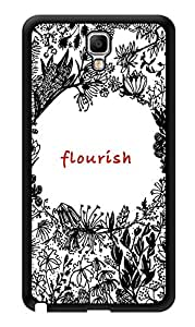 "Humor Gang Flourish Pretty Printed Designer Mobile Back Cover For ""Samsung Galaxy Note 3"" (3D, Glossy, Premium Quality Snap On Case)"