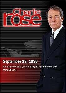 Charlie Rose with Jimmy Breslin; Mira Sorvino (September 19, 1996)