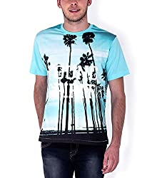 Sera Mens Photo Real Graphic Tee (ME1010_Turquoise_Large)