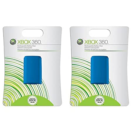 Xbox 360 Rechargeable Controller Battery Pack Blue 2 Pack