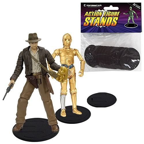 Picture of Entertainment Earth Action Figure Stand Pack of 25 Black Stands (B003BX7YG6) (Entertainment Earth Action Figures)
