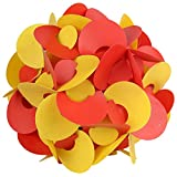 Ravi Creations Plastic Diwali Lamp - RC-27, Red & Yellow, 18 Cm X 18 Cm X 18 Cm
