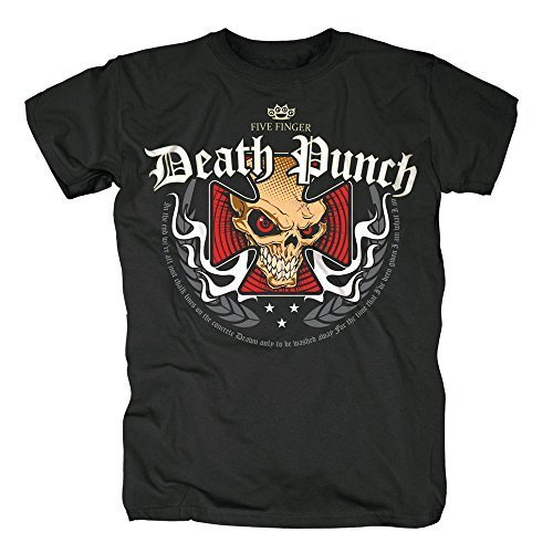 FIVE FINGER DEATH PUNCH - IRON CROSS - OFFICIAL MENS T SHIRT