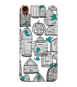 Mental Mind 3D Printed Plastic Back Cover For HTC Desire 820 - 3DHTC820- G892
