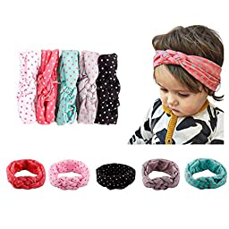 Quest Sweet-Baby Girl Newest Turban Headband Head Wrap Knotted Hair Band