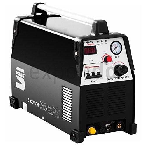 Stamos-Power-S-CUTTER-70-3PH-Plasmaschneider-Schneidstrom-bis-70-Ampere-Schneidleistung-von-20-mm-60-Einschaltdauer-stufenlos-einstellbarer-Schneidstrom-HF-Zndung