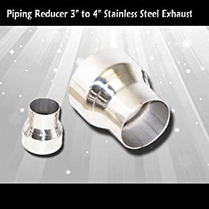 """Stainless Steel Exhaust Piping Reducer 3"""" to 4"""""""