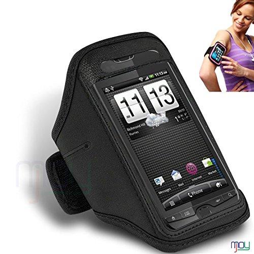 HTC Panache NERO bracciale registrabile di ginnastica di sport del ciclo della bici da corsa della copertura della cassa Jogging Sport Titolare Pouch (BB) IN GIOIA MOBILE