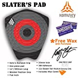 Komunity Project Kelly Slater Surfboard Traction Pad (Red / Grey, Cold Wax)