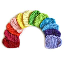 Ema Jane - Super Rainbow Waffle Crochet Beanies (Hair Accessories Not Included) (12 Pack)
