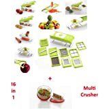 Platinum Multi-function Dicer,Chipser,Juicer,Grater,Cutter,Peeler,Slicer,Chopper-16in1+FREE GIFT OF 1 PIECE OF...