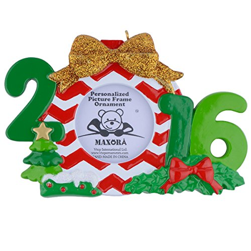 2016 Christmas Decor Photo Frame Personalized Ornament with Gift Box (Personalized Photo Box compare prices)