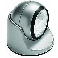Porch Motion Floodlight-SILVER 6 LED PORCH LIGHT