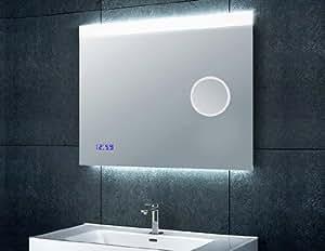 Badspiegel mit uhr das beste aus wohndesign und m bel for Badspiegel mit radio