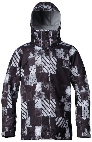 Quiksilver Mens Mission Insulated Jacket, Atom Black, X-Small