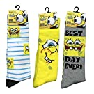 Sponge Bob Socks size 6-8 Girls Knee High 3 Pair