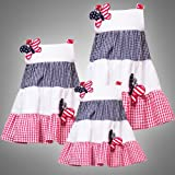 Rare Editions INFANT 12M-24M 2-Piece RED WHITE BLUE PATRIOTIC AMERICANA BUTTERFLY SEER SUCKER Spring Summer Baby Party Dress