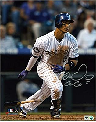 "Carlos Gonzalez Colorado Rockies Autographed 8"" x 10"" Photograph with Inscription - Fanatics Authentic Certified"