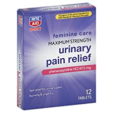 Rite Aid Pharmacy Urinary Pain Relief, Maximum Strength, 97.5 mg, Tablets, 12 tablets