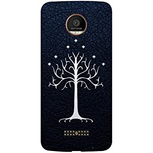 Casotec Magic Tree Pattern Design 3D Printed Hard Back Case Cover for Motorola Moto Z Force