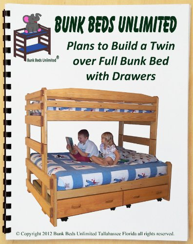 Bunk Bed Woodworking Plan (Not A Bed) To Build Your Own Stackable Twin Over Full With Two Large Storage Drawers front-1063675